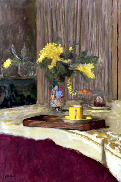 """Bouquet of Mimosas on the Table"" by  Edouard Vuillard"