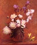 Bouquet of Peonies and Iris by  Henri Fantin Latour (Painting ID: SL-0171-KA)