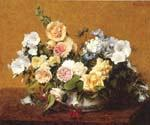 Bouquet of Roses and other Flowers by  Henri Fantin Latour (Painting ID: SL-0163-KA)