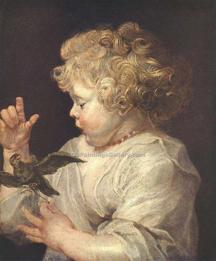"""Boy with Bird"" by  Peter Paul Rubens"