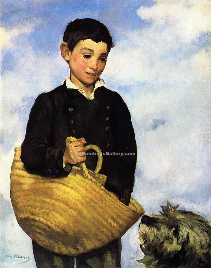 """Boy with Dog"" by  Edouard Manet"