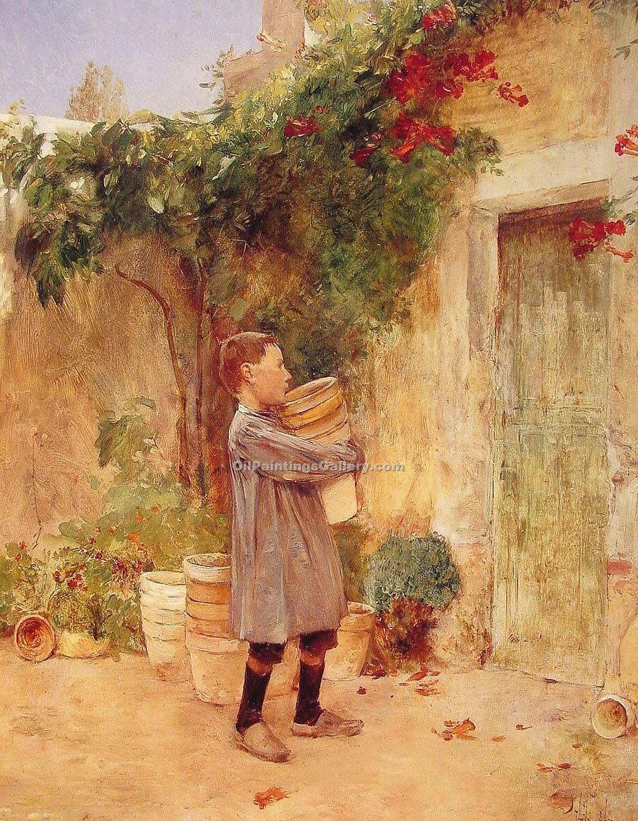 Frederick Childe Hassam - Page 2 Boy-with-Flower-Pots