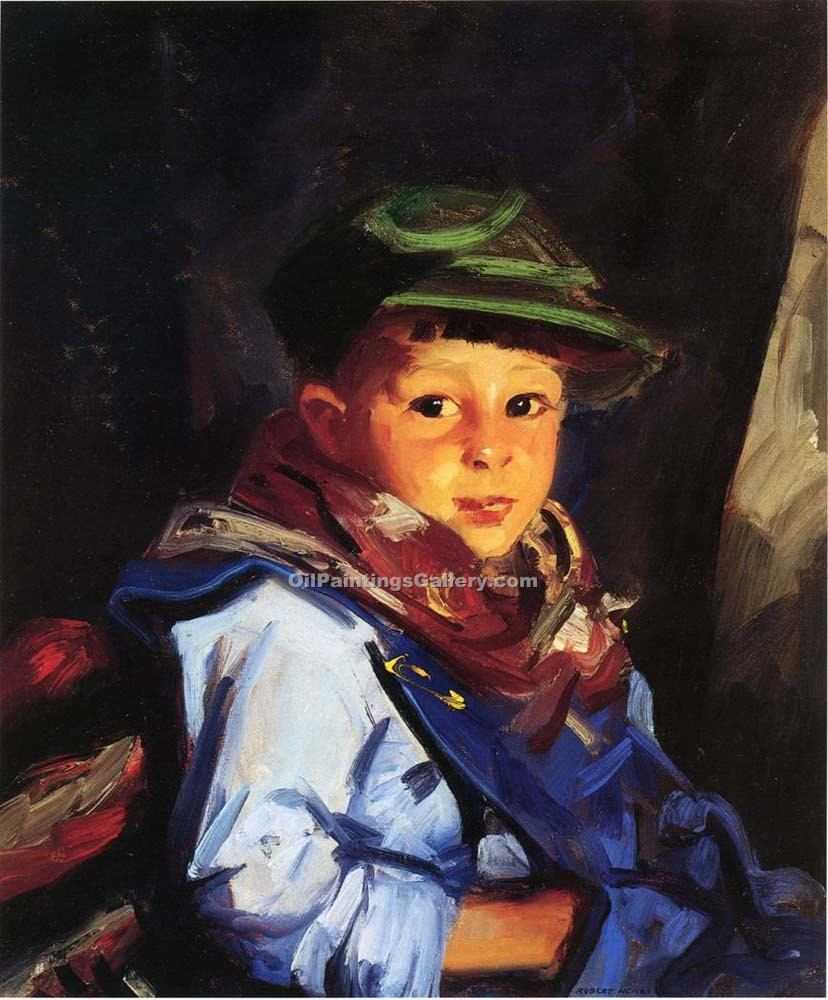 """Boy with a Green Cap, Chico"" by  Robert Henri"
