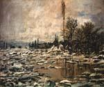 Break up of Ice Lavacourt by  Claude Monet (Painting ID: MO-1263-KA)