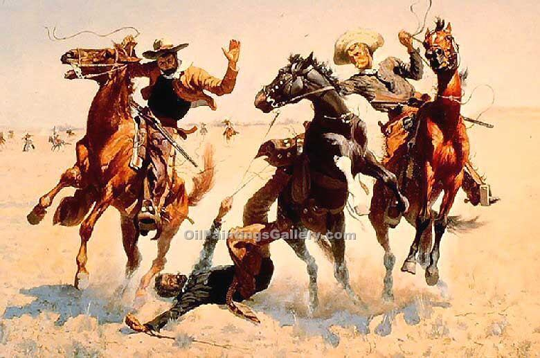 """Breaking Horses"" by  Frederic Remington"