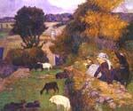 Breton Shepherdess by  Paul Gauguin (Painting ID: GA-0242-KA)