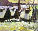 Breton Village in Snow by  Paul Gauguin (Painting ID: GA-0201-KA)