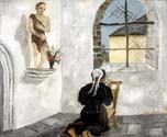 Breton Woman at Prayer by  Christopher Wood (Painting ID: EI-0621-KA)