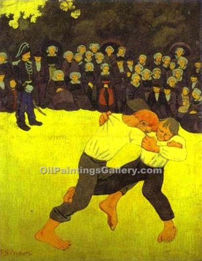 """Breton Wrestling"" by  Paul Serusier"