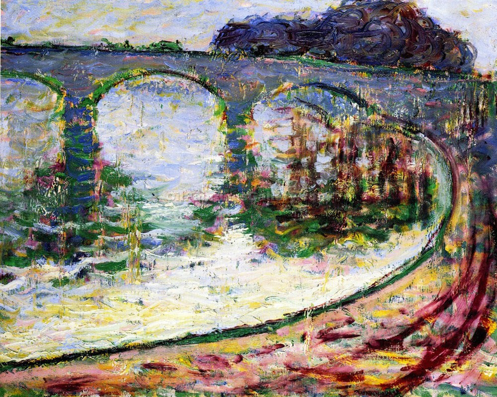 """Bridge At Vernon"" by Theodore Earl Butler"