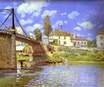 Bridge at Villeneuve-la-Garenne by  Alfred Sisley (Painting ID: LA-0341-KA)