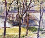 Bridge near Giverny by  Theodore Robinson (Painting ID: LA-1909-KA)