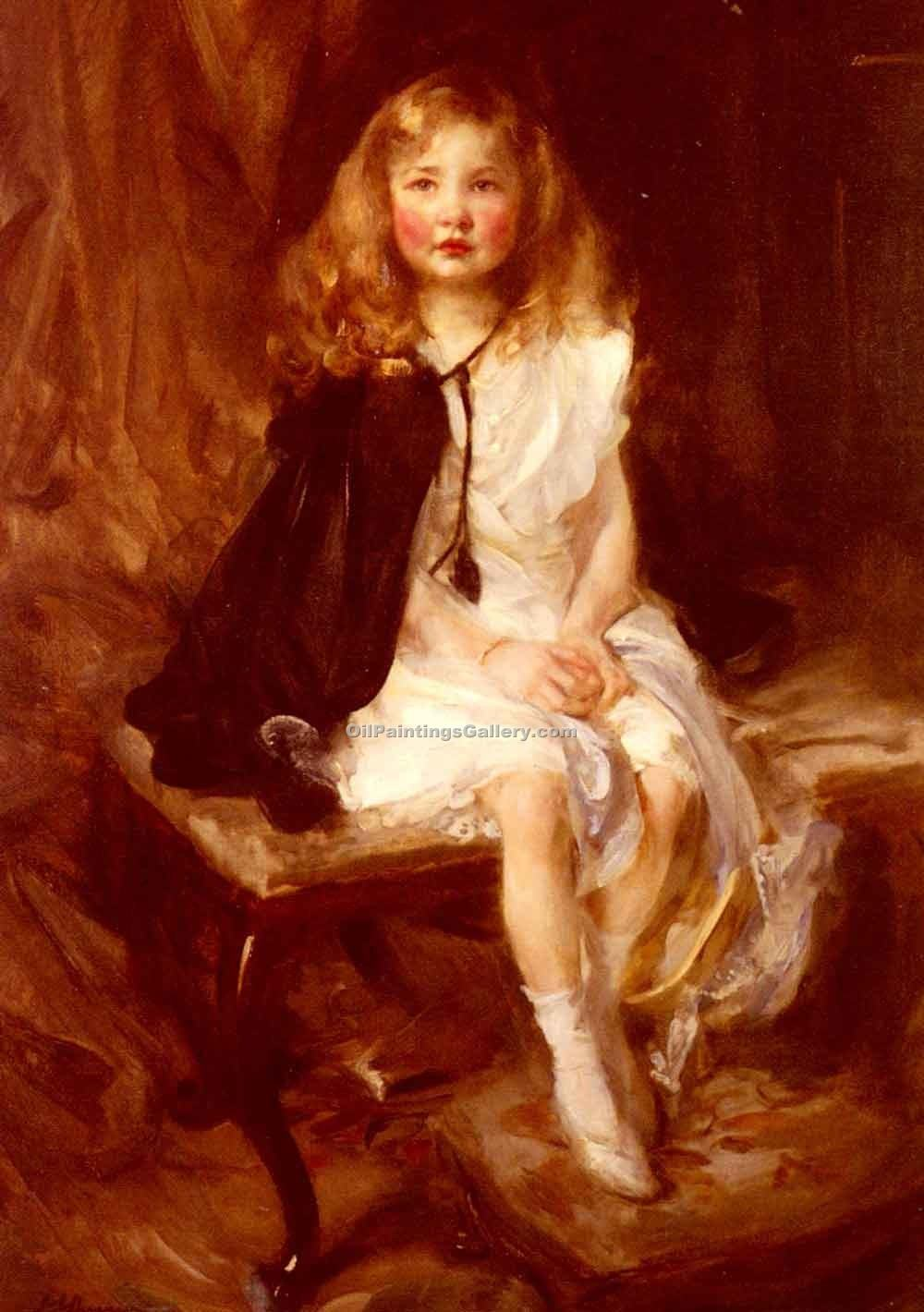 Bridget, Daughter of Harold Nickols by Shannon James Jebusa | Family Portraits - Oil Paintings Gallery