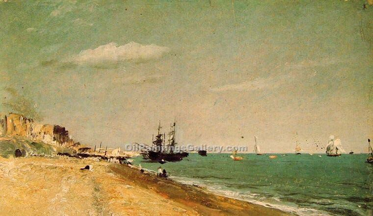 """Brighton Beach with Colliers"" by  John Constable"