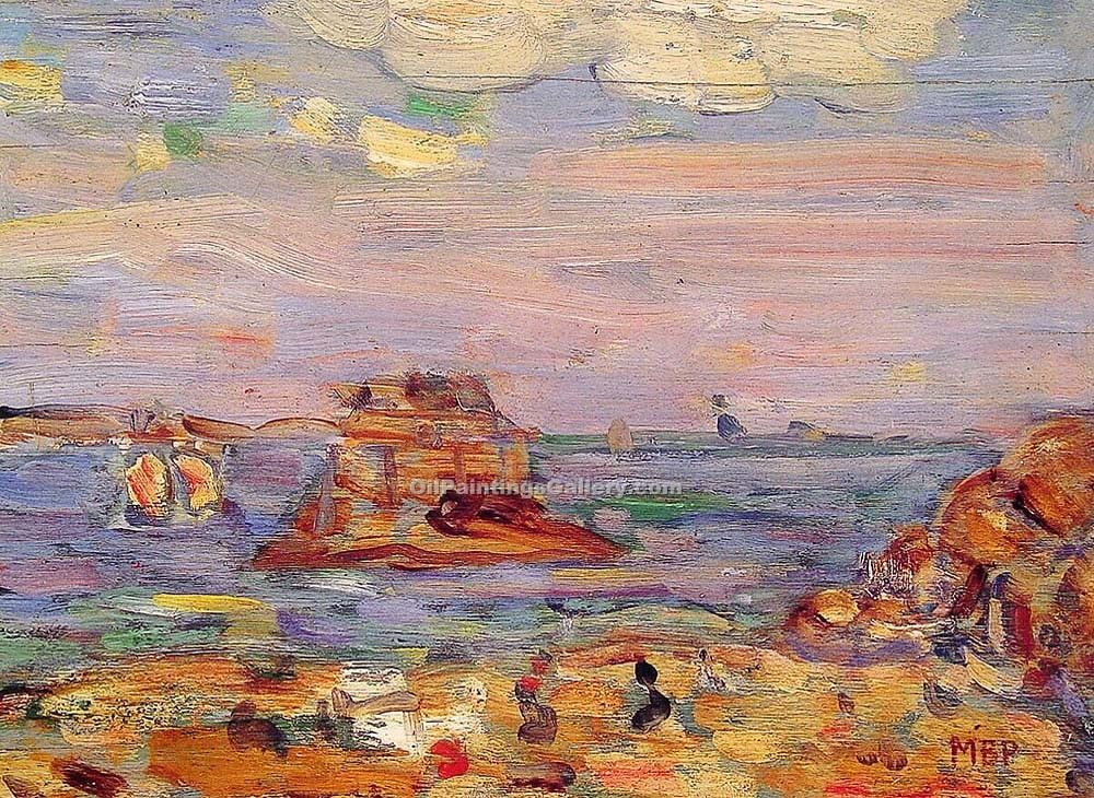 """Brittany Coast"" by  Maurice Brazil Prendergast"