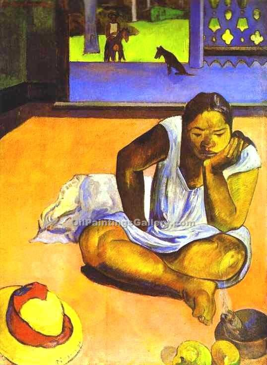 """Brooding Woman"" by  Paul Gauguin"