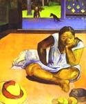 Brooding Woman by  Paul Gauguin (Painting ID: GA-0330-KA)