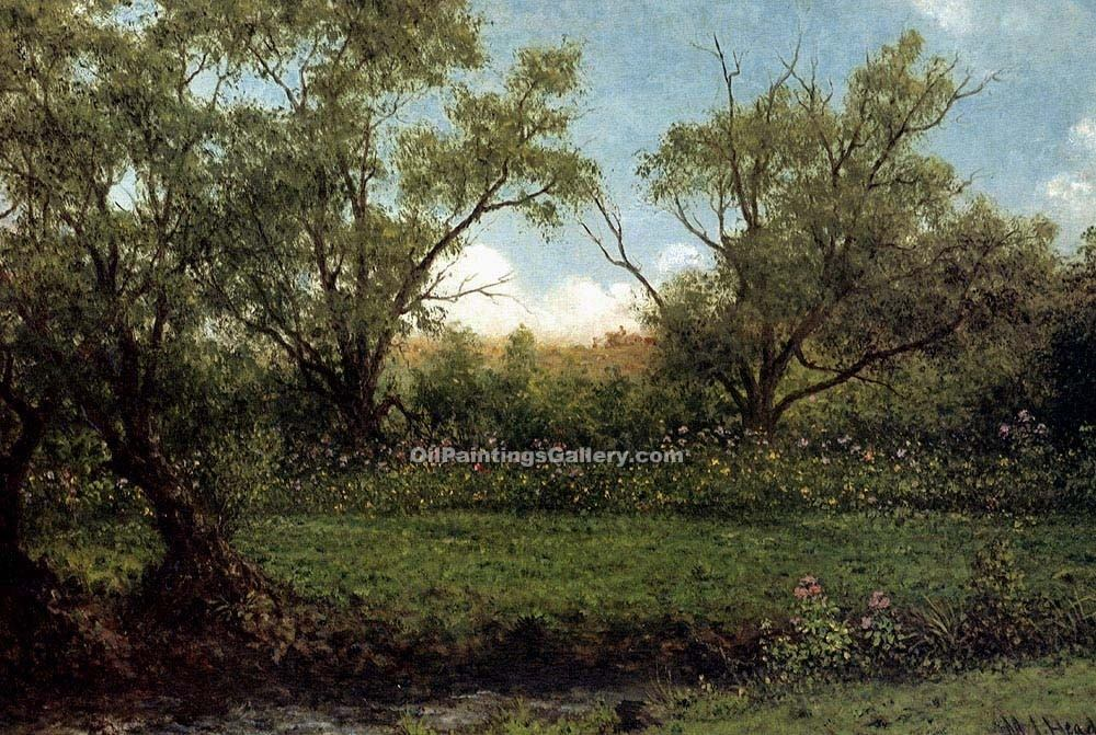 """Brookside"" by  Martin Johnson Heade"
