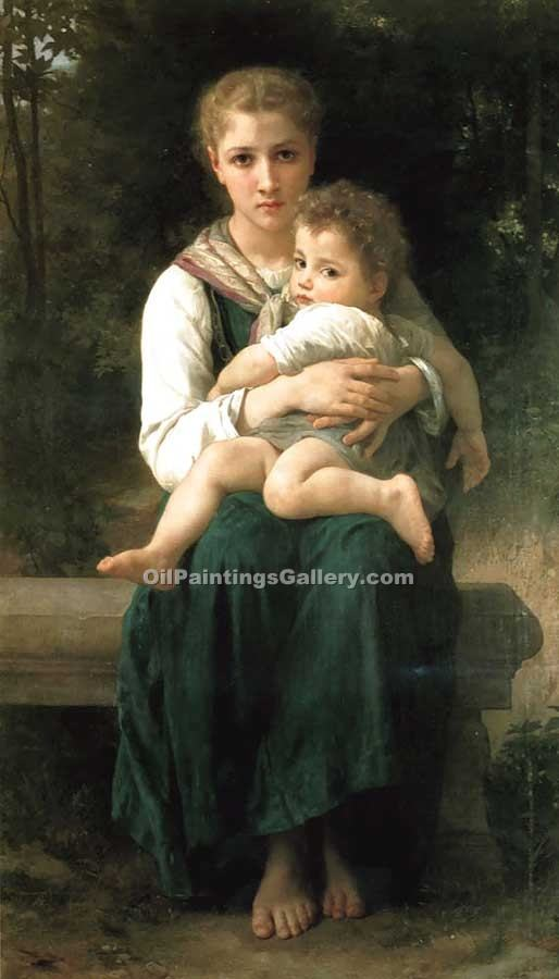 """Brother and Sister"" by  Adolphe Bouguereau"