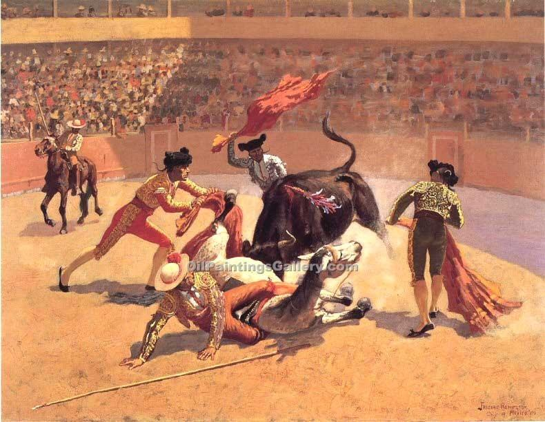 """Bull Fight in Mexico"" by  Frederic Remington"