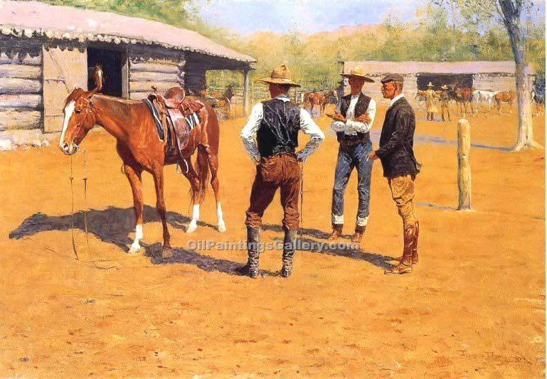 """Buying Polo Ponies in the West"" by  Frederic Remington"