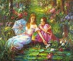 By the Lily Pond Oil Painting (ID: CL-4166-C)