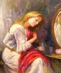 By the Mirror Oil Painting (ID: EI-1072-B)