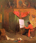 Self Portrait in the Studio by  William Holbrook Beard (Painting ID: CL-0182-KA)
