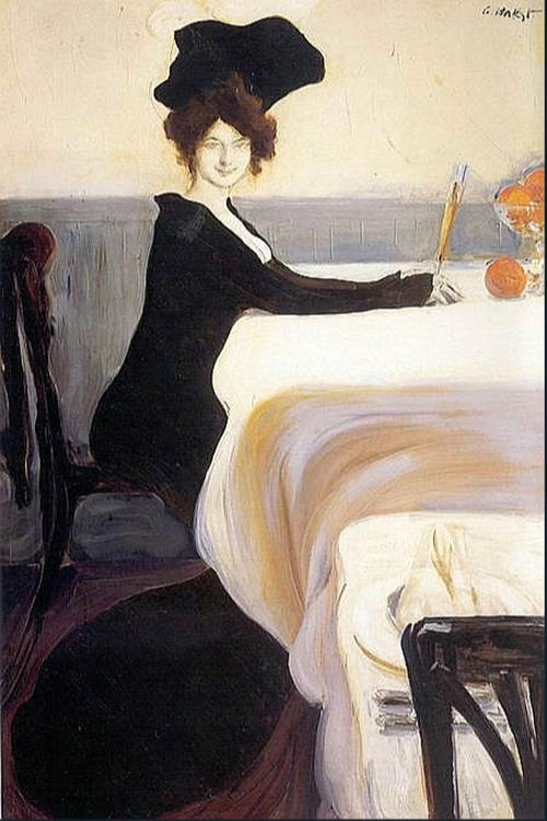 The Supper by Léon Bakst | Art Reproductions - Oil Paintings Gallery