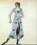 Ida Rubinstein as Istar by  Leon Bakst (Painting ID: CL-1956-KA)