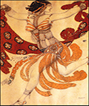 Costume design for the ballet Cleopatra by  Leon Bakst (Painting ID: CL-1974-KA)
