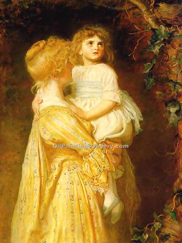The Nest by Millais John Everett | Portrait Oil Painting - Oil Paintings Gallery