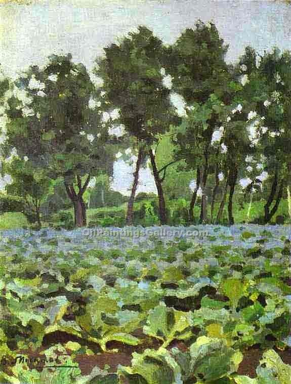 """Cabbage Field with Willows"" by  Victor Borisov Musatov"