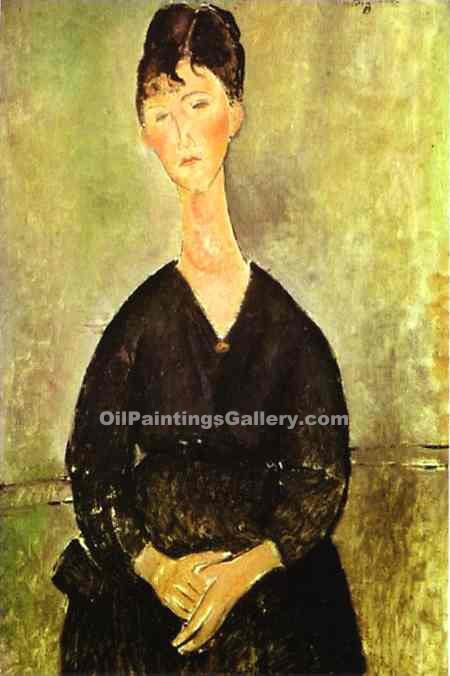 """Cafe Singer 27"" by  Amedeo Modigliani"