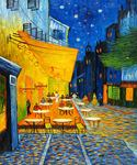 Cafe Terrace at Night by  Vincent Van Gogh (Painting ID: VG-0105-KA)