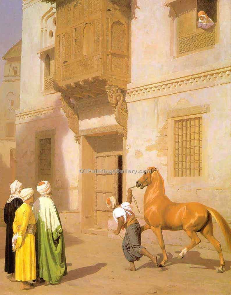 """Cairene Horse Dealer"" by  Jean Leon Gerome"