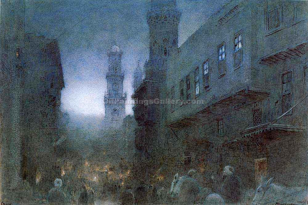 """Cairo"" by  Albert Goodwin"