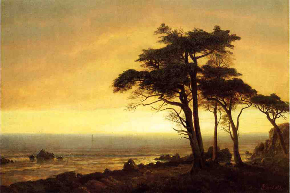 """California Coast 39"" by  Albert Bierstadt"