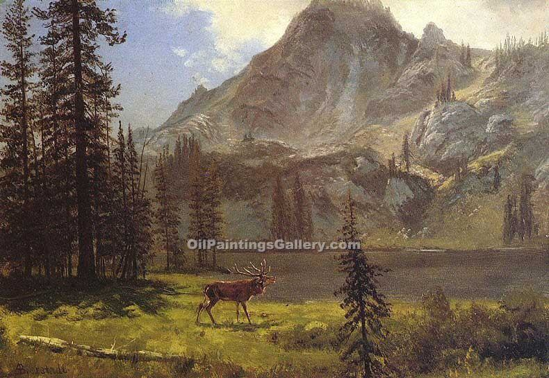 """Call of the Wild"" by  Albert Bierstadt"