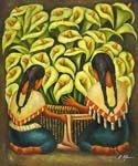 Calla Lilly Vendors  (Painting ID: GE-1131-KA)