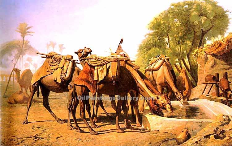 """Camels at the Fountain"" by  Jean Leon Gerome"
