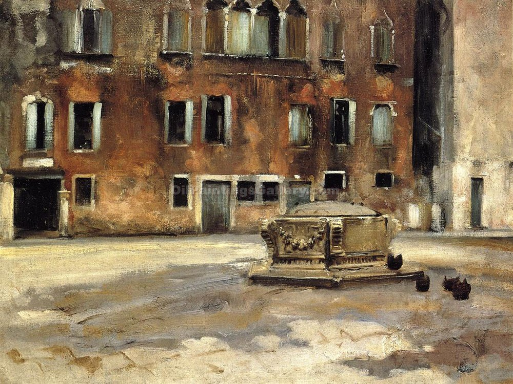 """Campo San Agnese in Venice"" by  John Singer Sargent"