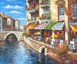 Canal Front  (Painting ID: CI-1636-KA)