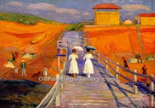 """Cape Cod Pier"" by  William Glackens"