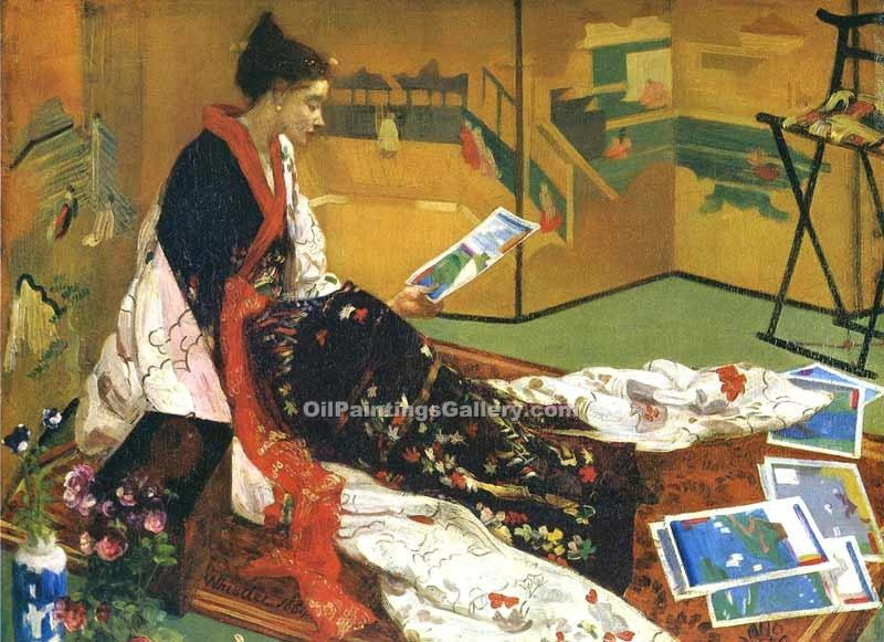 """Caprice in Purple and Gold"" by  James McNeill  Whistler"