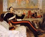 Captain Frederick Gustav Burnady by  James Tissot (Painting ID: CL-4277-KA)
