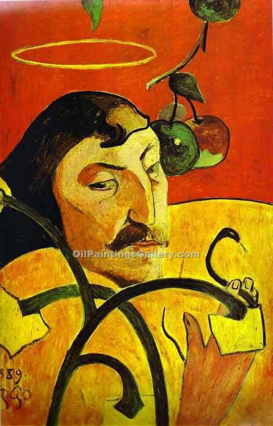 """Caricature Self Portrait"" by  Paul Gauguin"