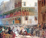 Carnival in Via Del Campo, Rome by  Ippolito Caffi (Painting ID: CI-0309-KA)