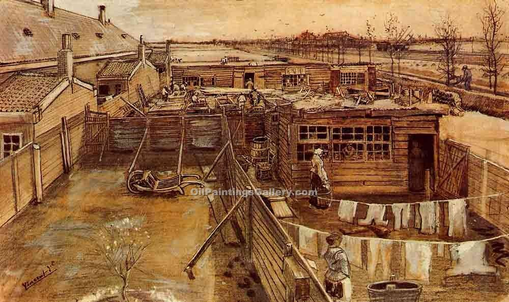 """Carpenters workshop"" by  Vincent Van Gogh"
