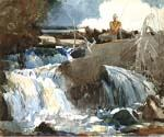 Casting in the Falls by  Winslow Homer (Painting ID: LA-1871-KA)
